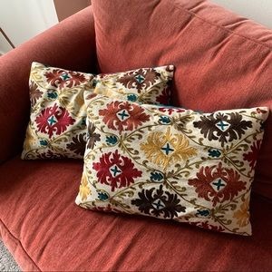 Pier 1 throw pillows